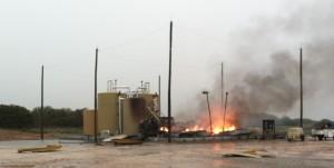 Lightning Strike fire with Catenary System
